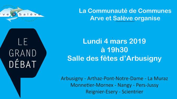 Contribution Pour Le Grand Débat National 2019 : Réunion Le 4 Mars à 19h30 à Arbusigny