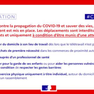 COVID 19 Autorisation De Déplacement